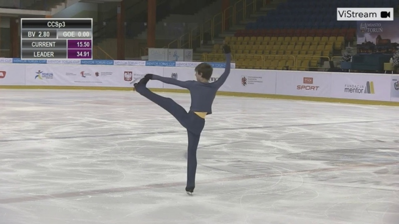 Mark KONDRATYUK RUS Short Program 2020 Mentor Torun Cup