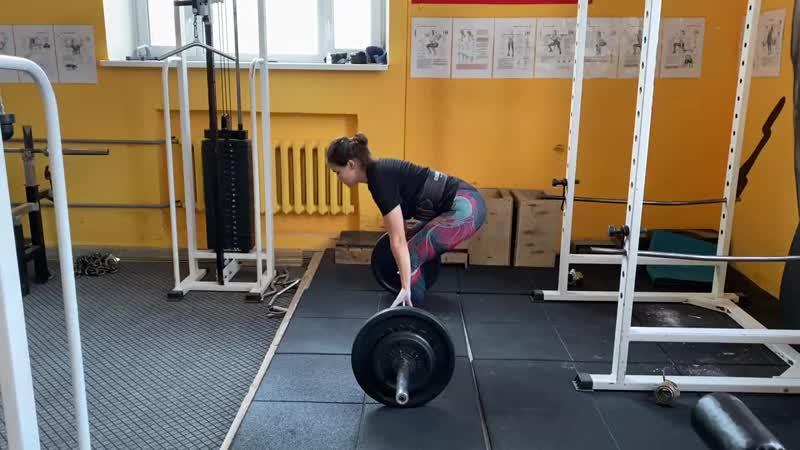Белянина Ксения становая тяга 100 кг на 6 раз 17 10 2020 г