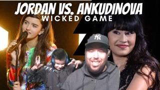 Diana Ankudinova Vs. Angelina Jordan   Dad & Son listen to WICKED GAME *REACTION*