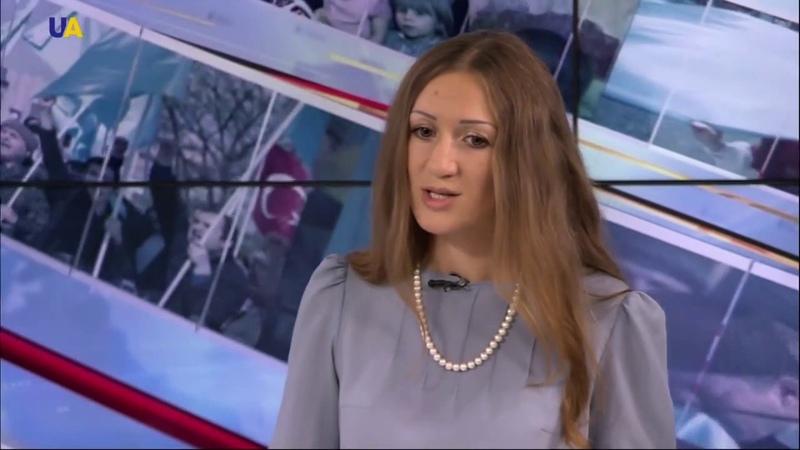 Прокурор прокуратури АР Крим Вікторія Мозгова в ефірі іномовного телеканалу UATV на русском