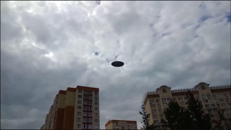 Корабли пришельцев в городе Маскировка НЛО