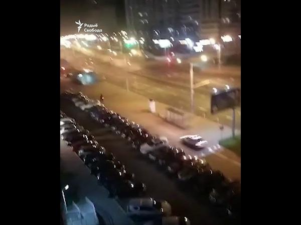 Гаишники в Минске гонятся за мопедом