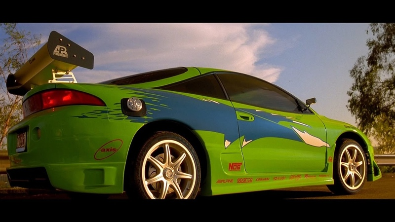 Fast Furious 2001 Mitsubishi Eclipse scene Enter the Eclipse Blu ray 4K