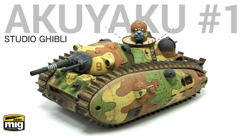 Scale Modeling Tutorial 1 72 'Akuyaku 1' Tank designed by Hayao Miyasaki from Studio Ghibli