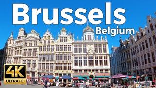 Brussels, Belgium Walking Tour (4k Ultra HD 60fps)