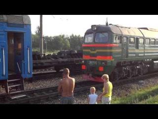 Смена локомотива на станции Сухиничи-Узловые