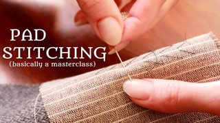 Actual Tailor Explains Pad Stitching for Perfect Collars & Lapels | Barbara of Royal Black Couture
