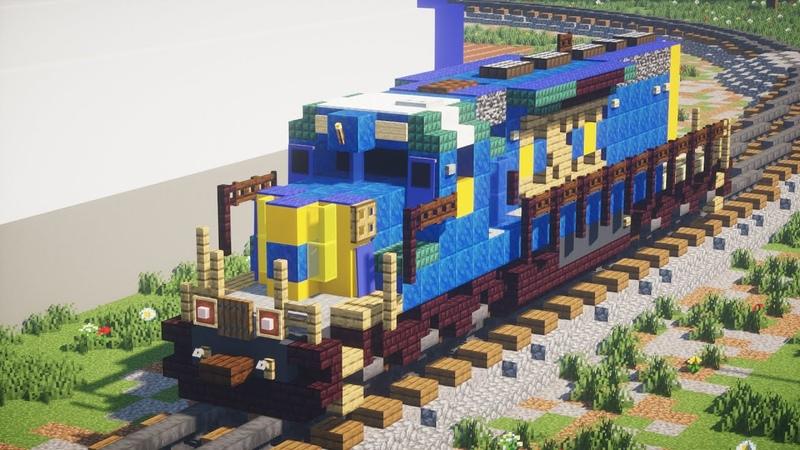 Minecraft CSX EMD SD40 2 Locomotive Tutorial