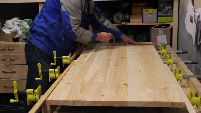 [WoodWorkMix - Столярный Микс] Мебельный щит своими руками? ЛЕГКО! Стеллаж из массива дерева по спецзаказу.