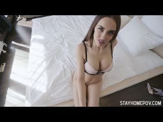 Luxury Girl - StayHomePOV - Showing her off ## POV brunette lingerie big tits blowjob titjob cowgirl sex porn