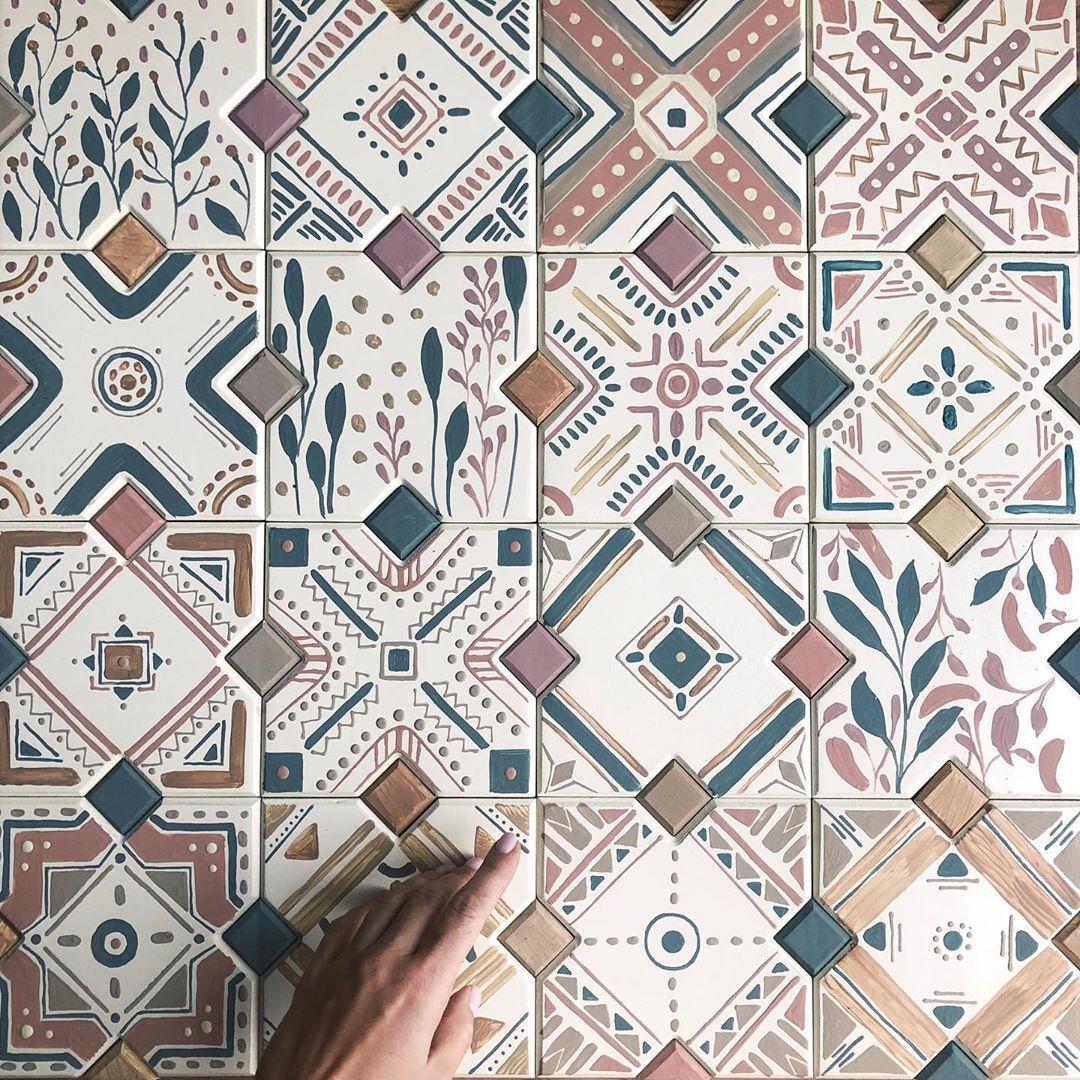 Вдохновение: плиточный паттерн от Анастасии Ропало