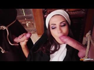 Cumlouder susy gala - nun love fucked two man (porno,uniform,sex,cumshot,blowjob,couples,oral,tits,pussy,taboo)