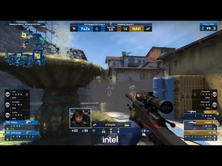 s1mple 4 kills (2 kills through smoke) against Faze on Inferno | IEM Cologne | Semifinal