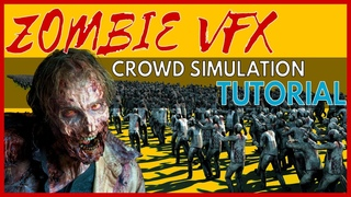 Crowd Simulation Tutorial - Tyflow Zombies (Allan McKay VFX 3DS Max 2020)