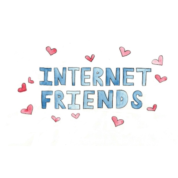 картинка про интернет друзей