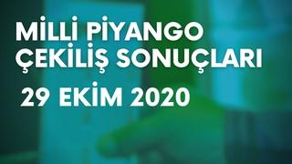 Milli Piyango Sonuçları Açıklandı - 29 Ekim 2020 (TAM LİSTE)