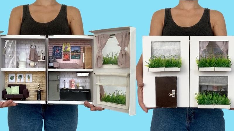DIY Miniatura Casa de Boneca na Caixa de Sapatos