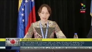 Relatora de  de la ONU de visita en Venezuela ofrece rueda de prensa
