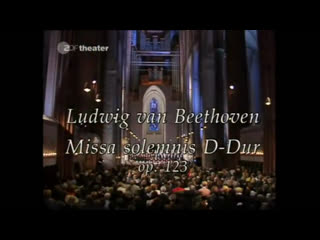 Beethoven-  Missa Solemnis-  Sir John Eliot Gardiner -Orgonasova, Robbin,Rolfe Johnson. Alastair Miles -Lübeck 1994