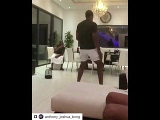 ANTHONY JOSHUA SHOWS OFF MICHAEL JACKSON DANCE MOVES!