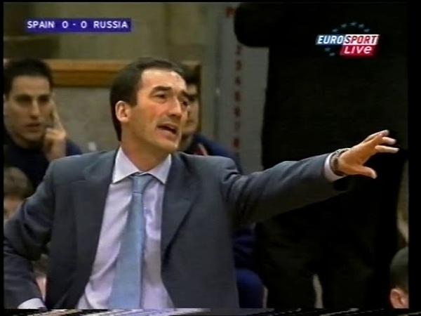 ЧЕ-2001 Полуфинал. Россия-Испания (26.02.2001)