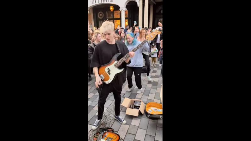 The Big Push Paint It Black The Rolling Stones cover live busking