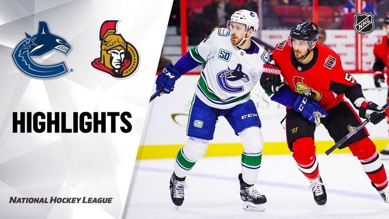 Vancouver Canucks vs Ottawa Senators | Feb.27, 2020 | Game Highlights | NHL 201920 | Обзор матча
