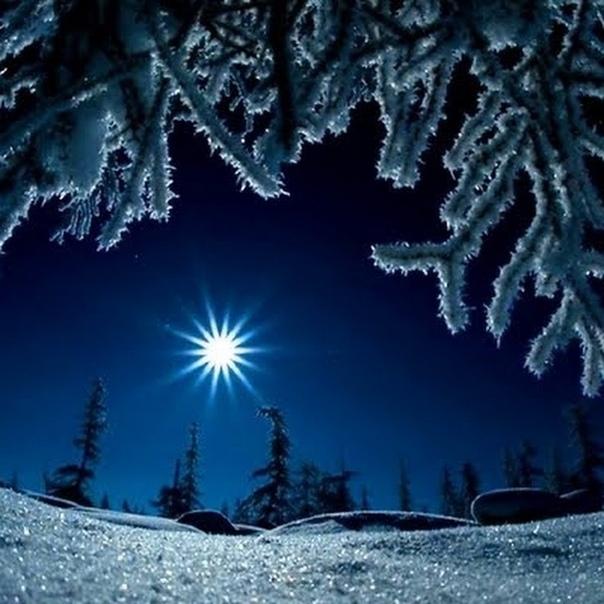 гифка ночь зима