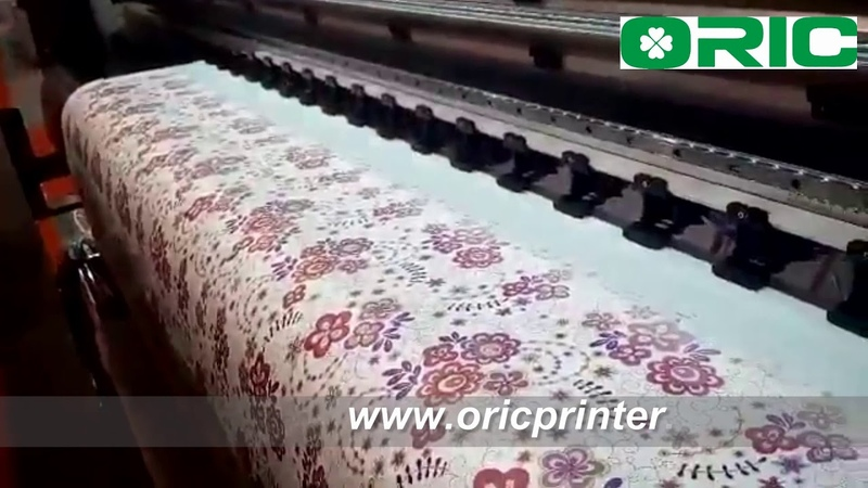 Wide Format Inkjet Sublimation Printer with 4 Printheads working on sublimation transfer paper