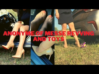 ANONYME OF MESSE REVVING AND TOYS #nylonfeet #pedalpumping #stuck carstuck #russiangirl #sokate