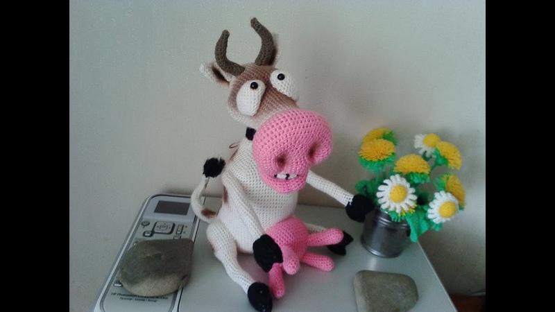 Веселая корова ч 4 Cheerful cow р 4 Amigurumi Crochet Амигуруми Игрушки крючком