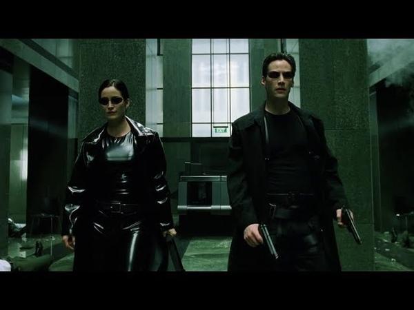 Shootout in the lobby The Matrix Open Matte