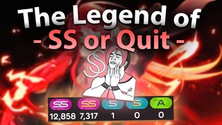 【 osu! 】Lesser Known Legend, - SS or Quit -