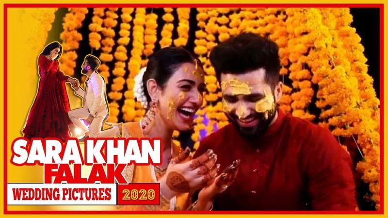 Sarah Khan weds Singer Falak Shabir wedding pictures   Sara Khan Wedding Complete Video