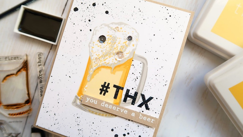 How To Make A MASCULINE Thank You Card Feat The Ton Beer