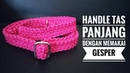 Membuat handle panjang tas selempang dari tali kur memakai gesper