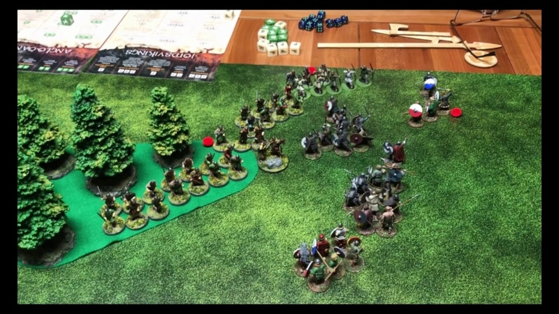 SAGA Battle Report 4 Jomsvikings VS Anglo Danes