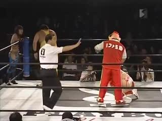 Joe Doering & Kaz Hayashi & Kana (ASUKA) vs. Nobutaka Araya & Kikutaro & Apple Miyuki ()