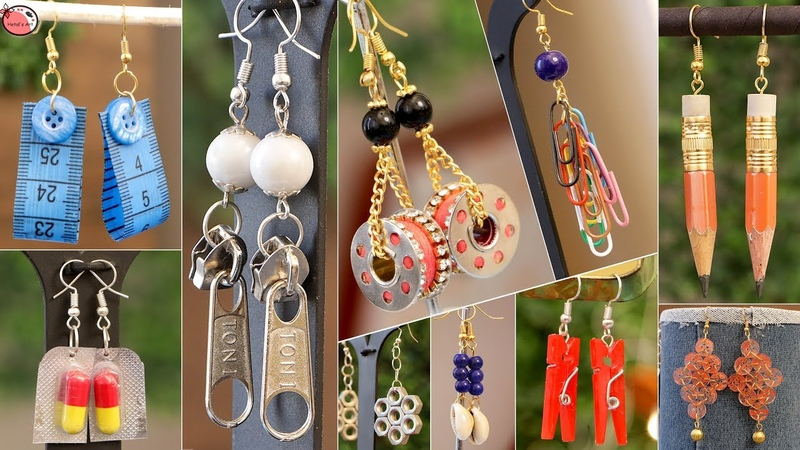 18 Earrings Life Hacks From Waste Materials