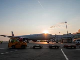 Рассвет в Шереметьево вместе с авиакомпанией Россия
