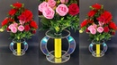BEAUTIFUL FLOWER VASE OUT OF CD DISC   BEST OUT OF WASTE   WASTE CD DISC RE-USE IDEA