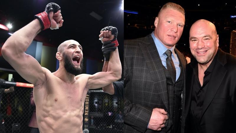 Слух о следующем бое Хамзата Чимаева Уайт о возвращении Брока Леснара в UFC