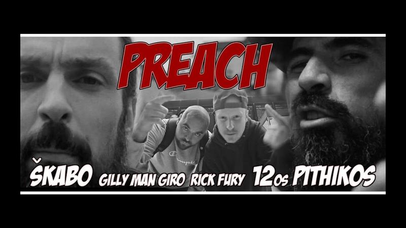 Škabo x 12os Pithikos x Gilly Man Giro Rick Fury Preach The Red Album Prod Richy Spitz