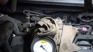 Замер давления топлива Opel Astra J GTC  A16LET