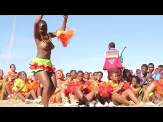 Daddys Little Half Naked African Zulu Black Girls Dancing