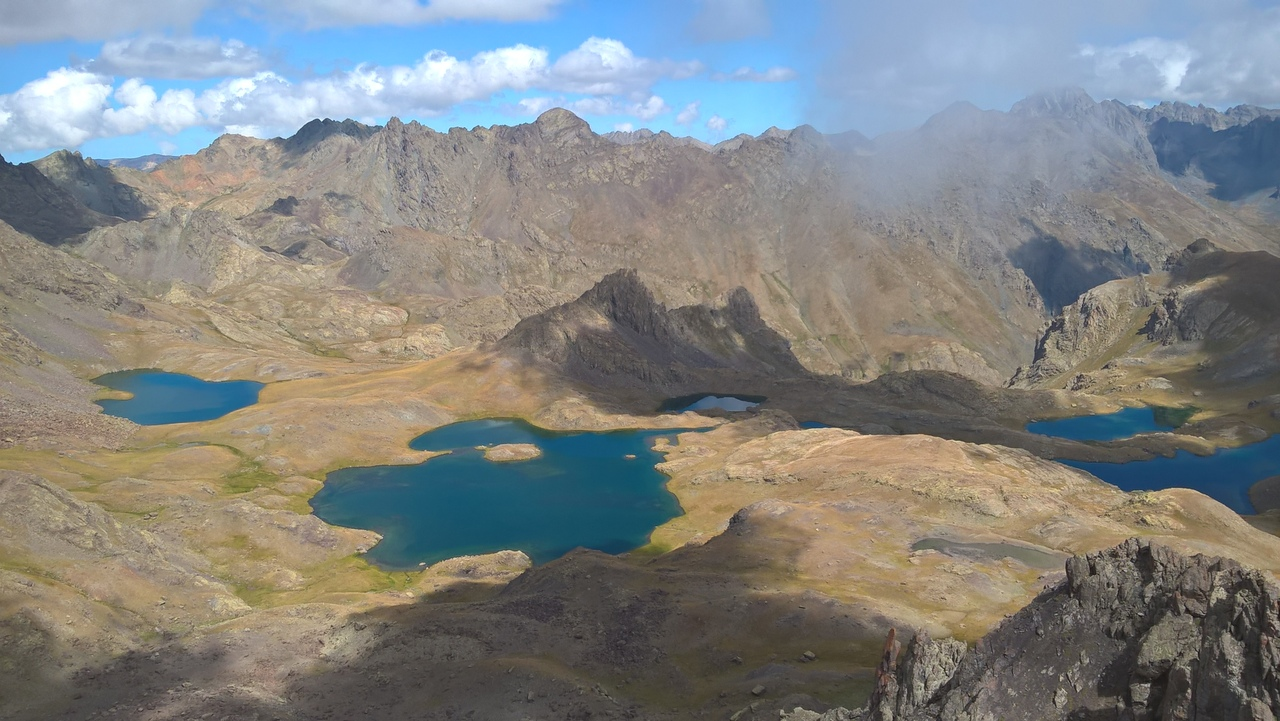 Вид сверху на 7 озёр Йедигёллер