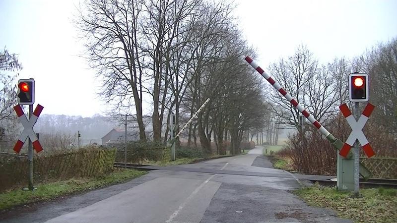 Spoorwegovergang Dorsten D Railroad crossing Bahnübergang