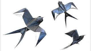 ORIGAMI SWALLOW TUTORIAL (Mariano Zavala B.) 折り 紙  つばめ GOLONDRINA оригами ЛАСТОЧКА