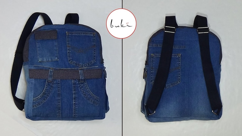 Buki Sewing Backpack with Measure DIY Jeans Backpack Tutorial Old Jeans Recycle Idea Backpack