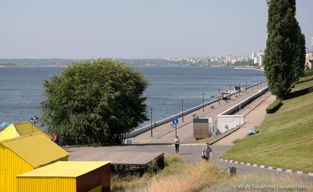 Панорама саратовской набережной, Саратов 2020
